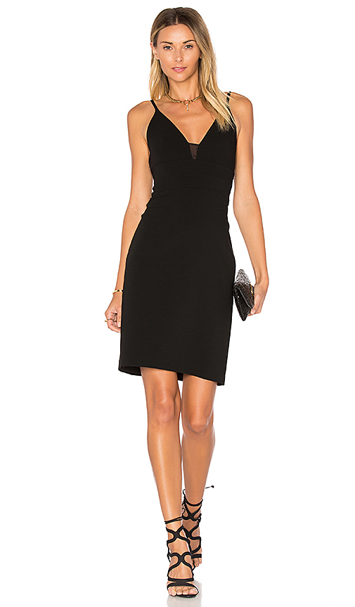 Alice + Olivia Jean Lace Insert Dress in Black. - size 0 (also in 2)