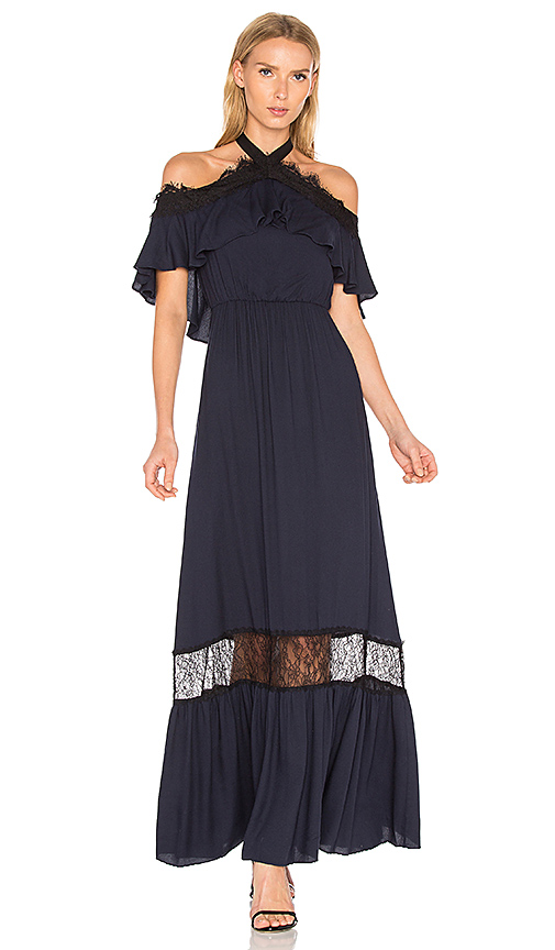 Alice + Olivia Mitsy Gown in Black. - size 2 (also in 4)
