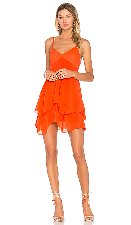 Alice + Olivia Delilah Dress in Orange. - size 2 (also in 0,4,6)