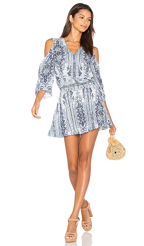 Photo of Alice + Olivia Jolene Dress in Blue - shop Alice + Olivia dresses sales