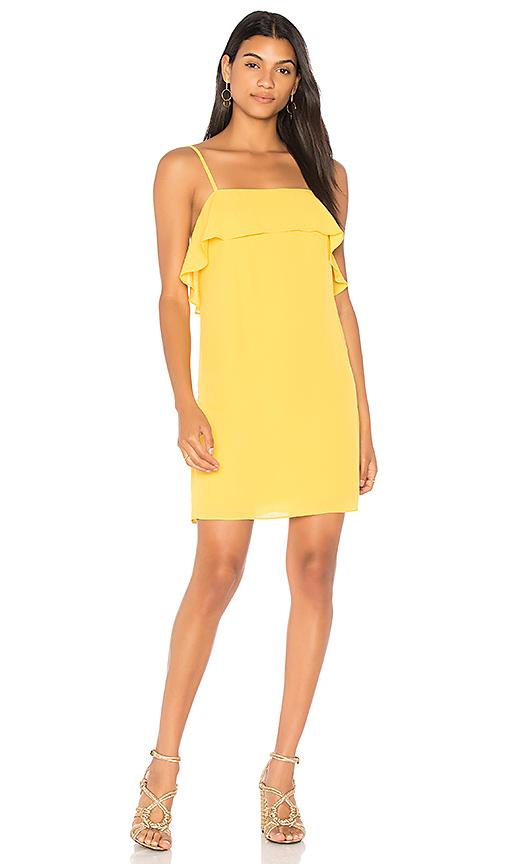 Alice + Olivia Etta Dress in Yellow. - size L (also in M,S,XS)
