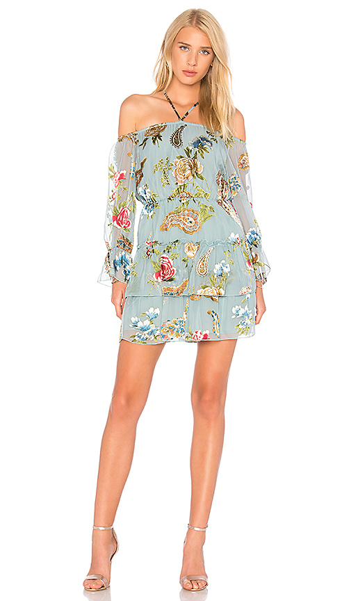 Alice + Olivia Waylon Dress in Turquoise