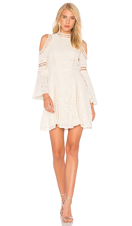 Alice + Olivia Enya Dress in Ivory
