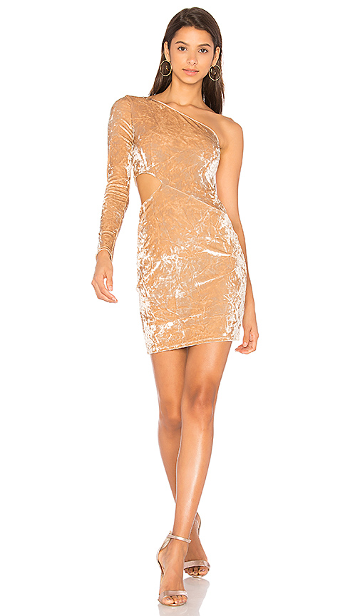 Alice + Olivia Malia Dress in Taupe