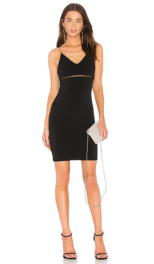 Alice + Olivia Dixon Dress in Black