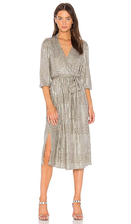 Alice + Olivia Katina Wrap Dress in Metallic Gold. - size 0 (also in 4)