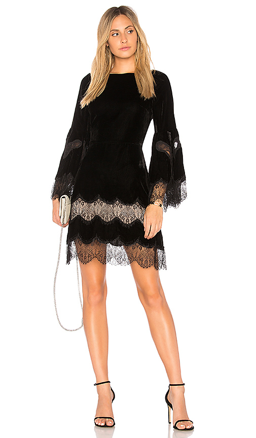 Alice + Olivia Leann Dress in Black