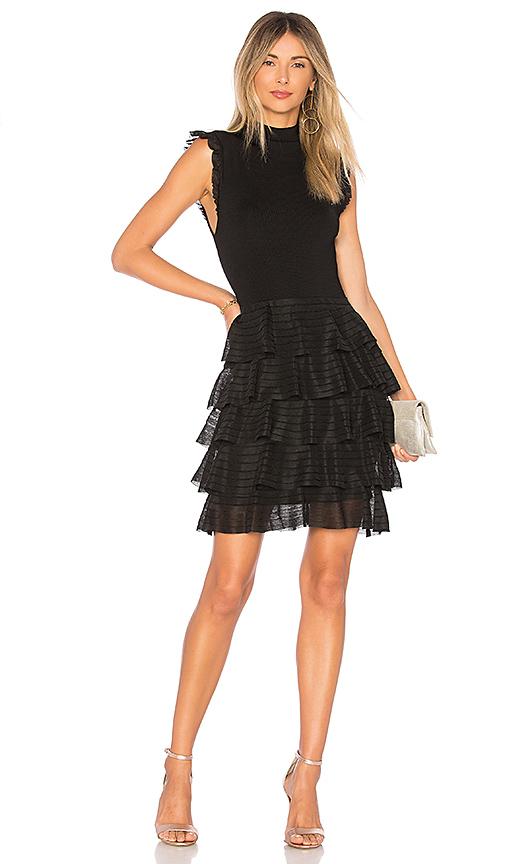 Alice + Olivia Janice Dress in Black