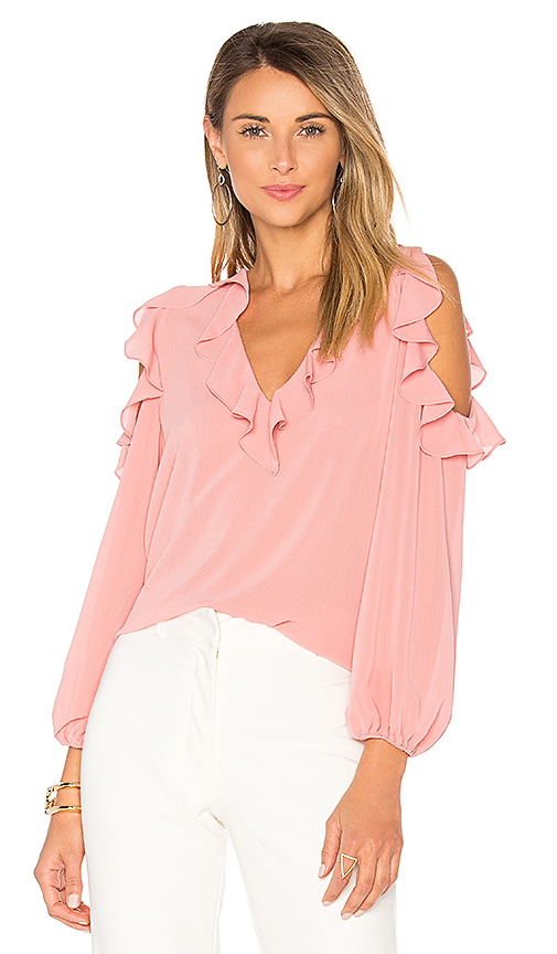Alice + Olivia Gia Blouse in Pink. - size L (also in M,S,XS)