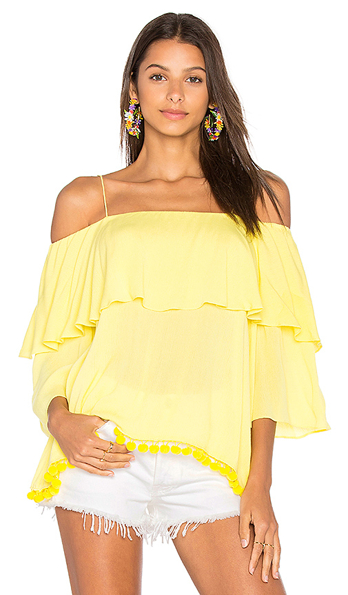 Alice + Olivia Meagan Top in Yellow