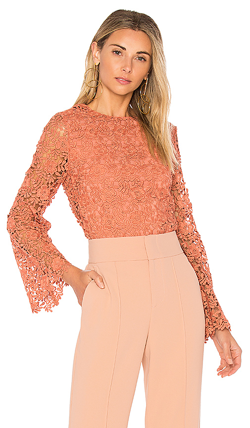 Alice + Olivia Pasha Top in Pink
