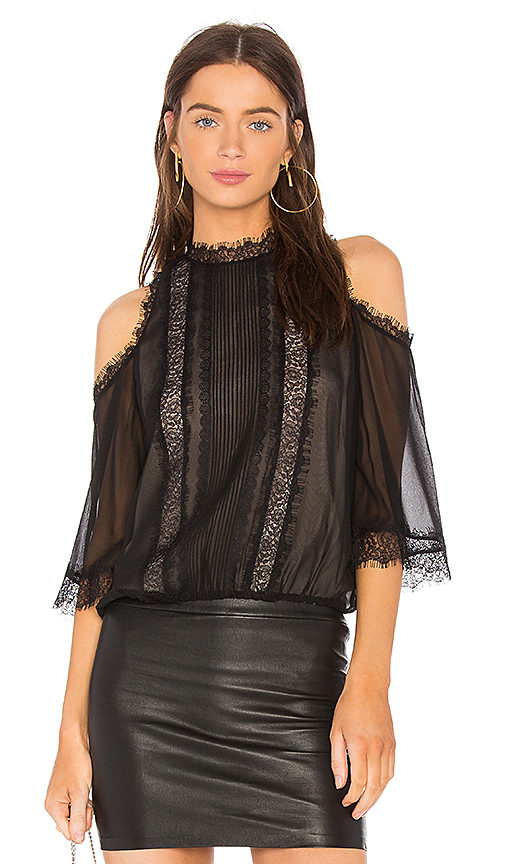Alice + Olivia Glinda Top in Black