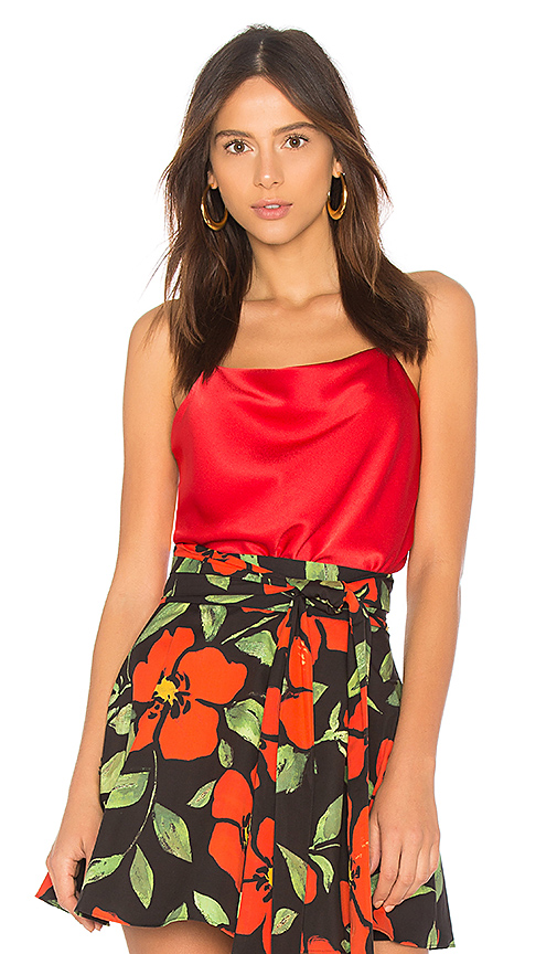 Alice + Olivia Harmony Top in Red
