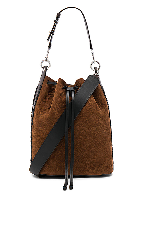 ALLSAINTS Ray Bucket Bag in Brown