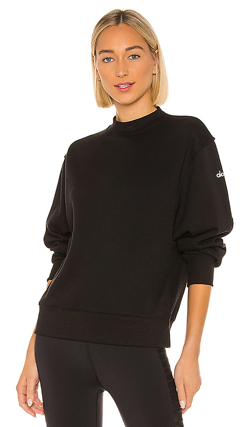 Alo Yoga T-shirts ALO FREESTYLE SWEATSHIRT IN BLACK.