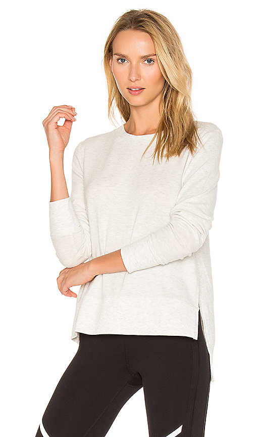 alo Glimpse Long Sleeve Top in White