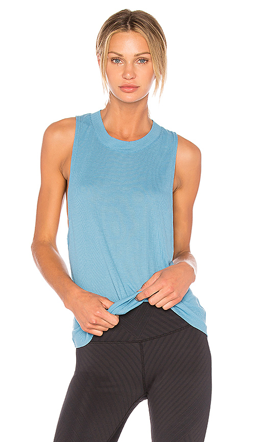 alo Heat Wave Tank in Blue