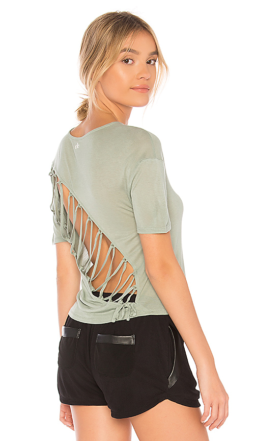 alo Entwine Short Sleeve Tee in Sage