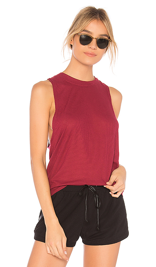 alo Heat Wave Tank in Red