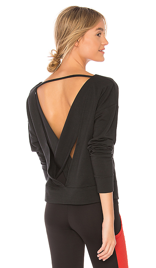 alo Uplift Long Sleeve Top in Black