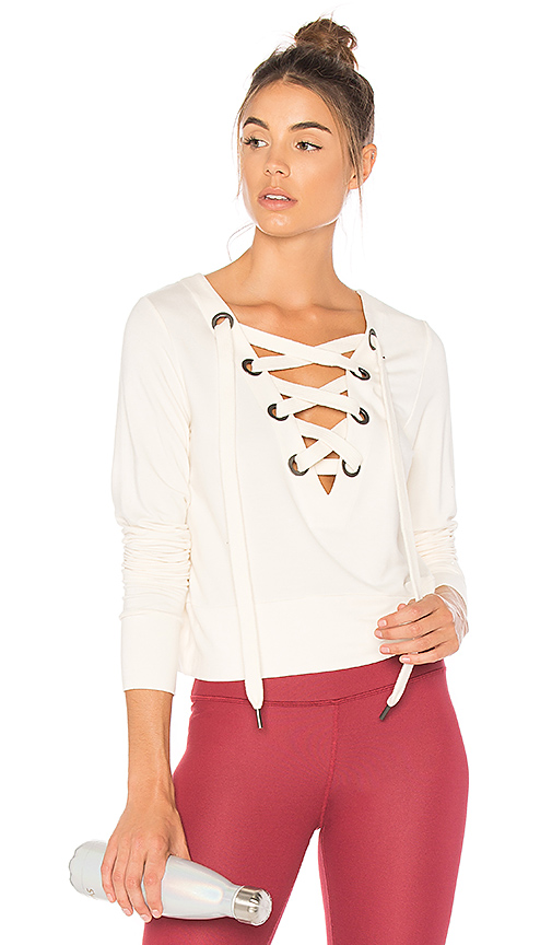alo Ideal Long Sleeve Top in Ivory