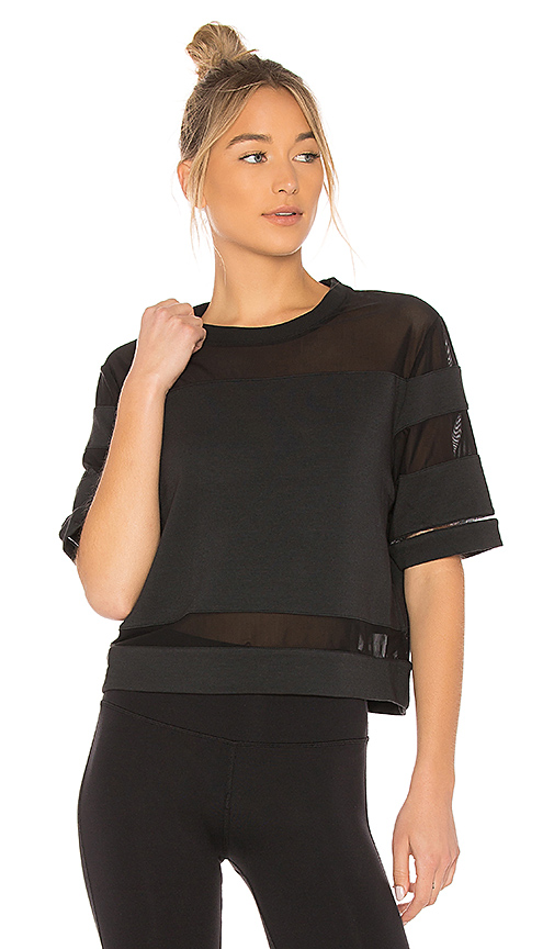 alo Mellow Short Sleeve Tee in Black