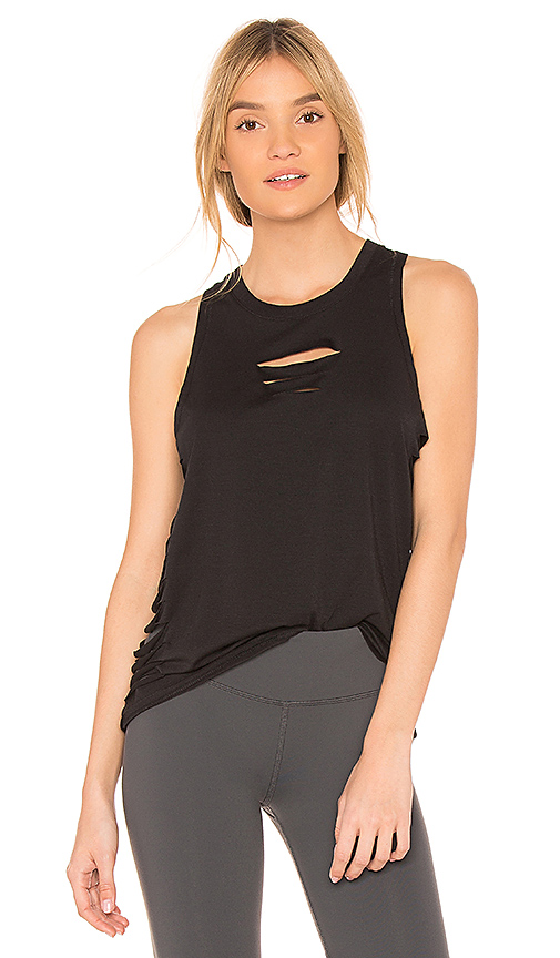 alo Cut It Out Tank in Black