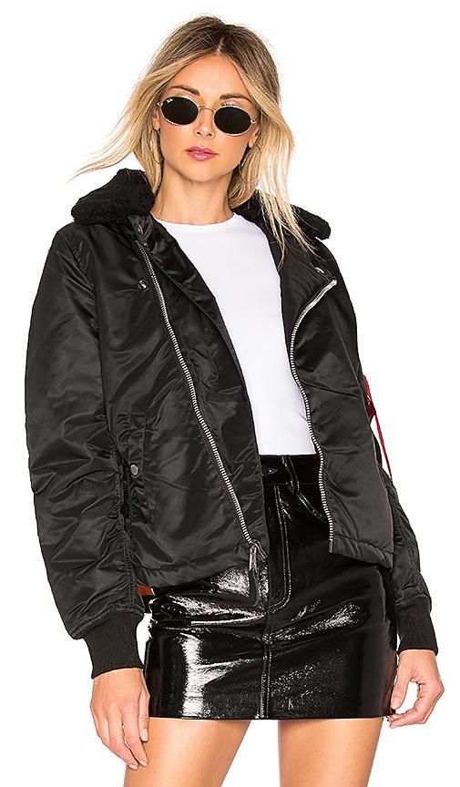 ALPHA INDUSTRIES | ALPHA INDUSTRIES B-15 Straight Hem Mod Jacket In Black. - Size XS (Also In M,S) | Goxip