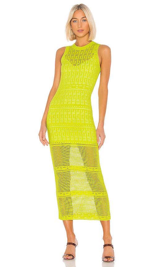 A.l.c Dresses A.L.C. MONOGHAN DRESS IN GREEN.