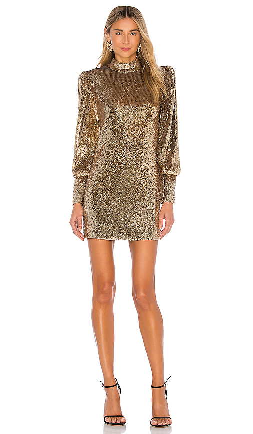 A.l.c Dresses A.L.C. CHRISTY DRESS IN METALLIC GOLD.