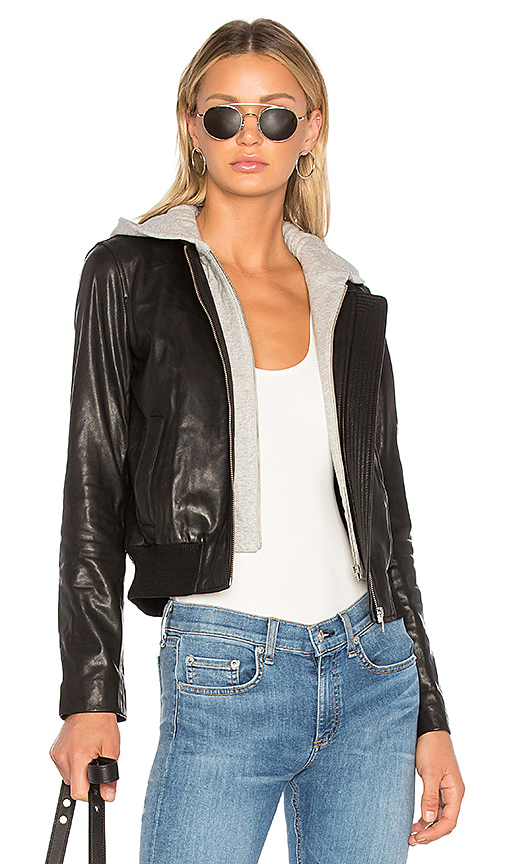 A.L.C. Edison Leather Jacket in Black. - size 0 (also in 4,6,8)
