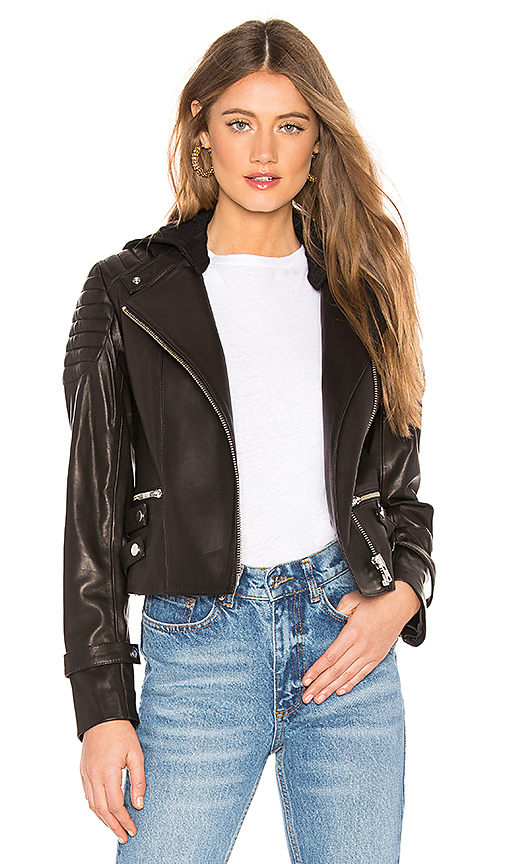 A.L.C. Knight Leather Jacket in Black. Size 6.