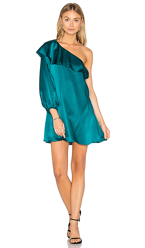 Amanda Uprichard Luella Dress in Dark Green. - size M (also in S,XS)