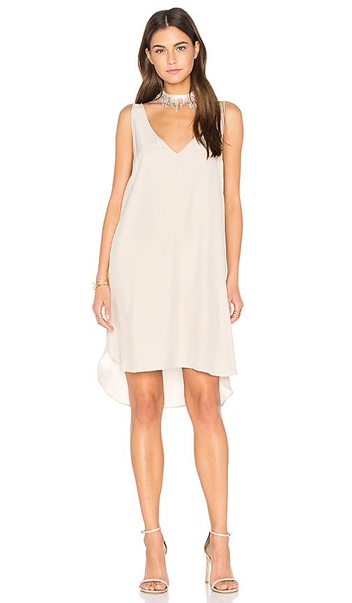 Amanda Uprichard Downtown Dress in Taupe