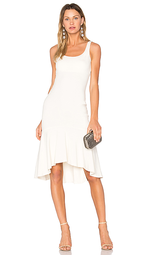 Amanda Uprichard Parker Dress in Beige