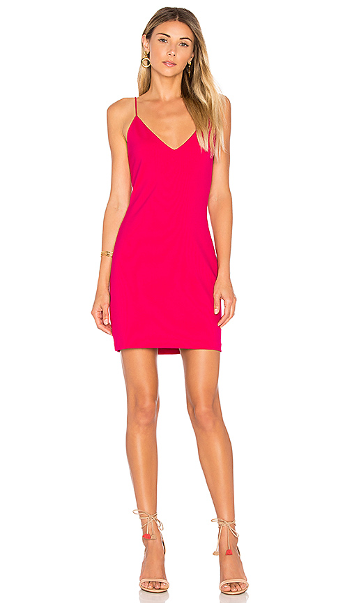 Amanda Uprichard Chandon Dress in Fuchsia
