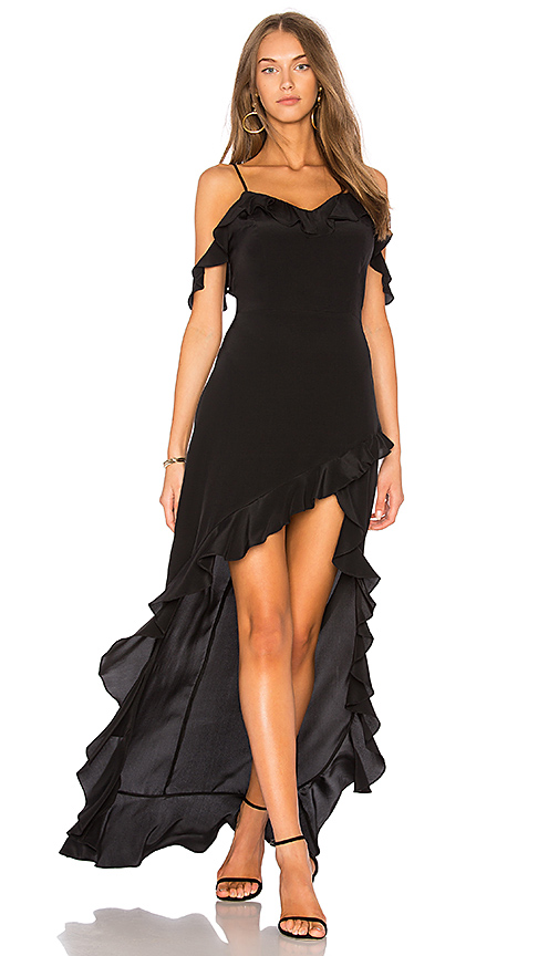 Amanda Uprichard Peony Maxi Dress in Black