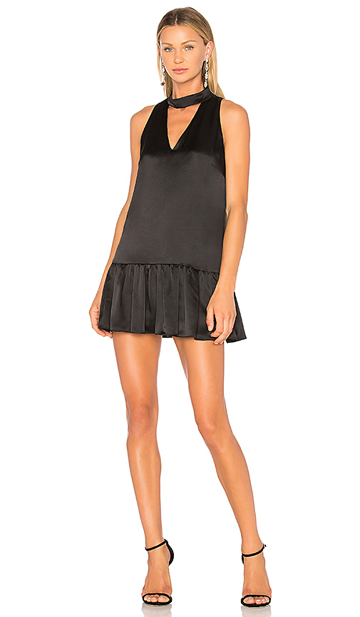 Amanda Uprichard Sara Cut Out Dress in Black