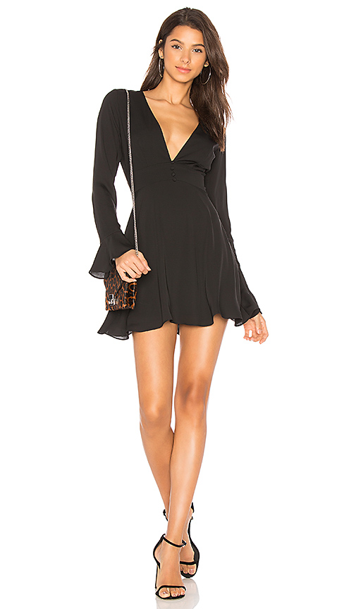 Amanda Uprichard Button Front Dress in Black