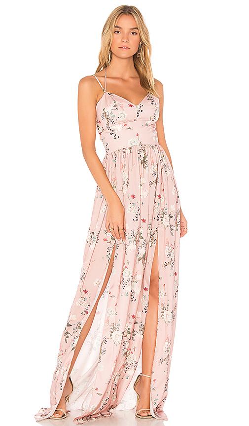 Amanda Uprichard Rio Maxi Dress in Pink