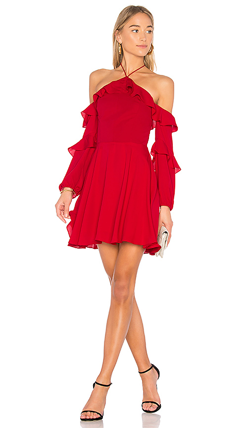 Amanda Uprichard Alma Dress in Red