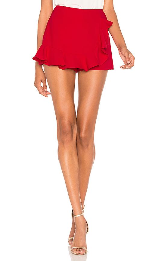 AMANDA UPRICHARD | Amanda Uprichard Trisha Skort In Red. - Size S (Also In L,M) | Goxip
