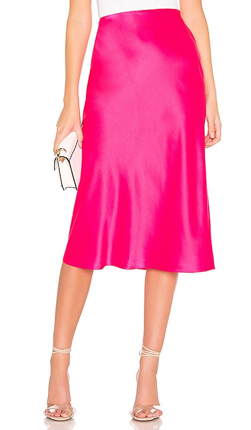 AMANDA UPRICHARD | Amanda Uprichard X REVOLVE Paulina Slip Skirt In Pink. - Size XS (Also In L,M,S) | Goxip
