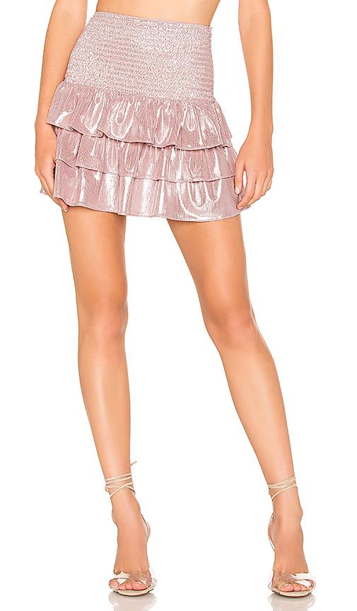 AMANDA UPRICHARD | Amanda Uprichard X REVOLVE Mariska Mini Skirt In Pink. - Size XS (Also In L,M,S) | Goxip