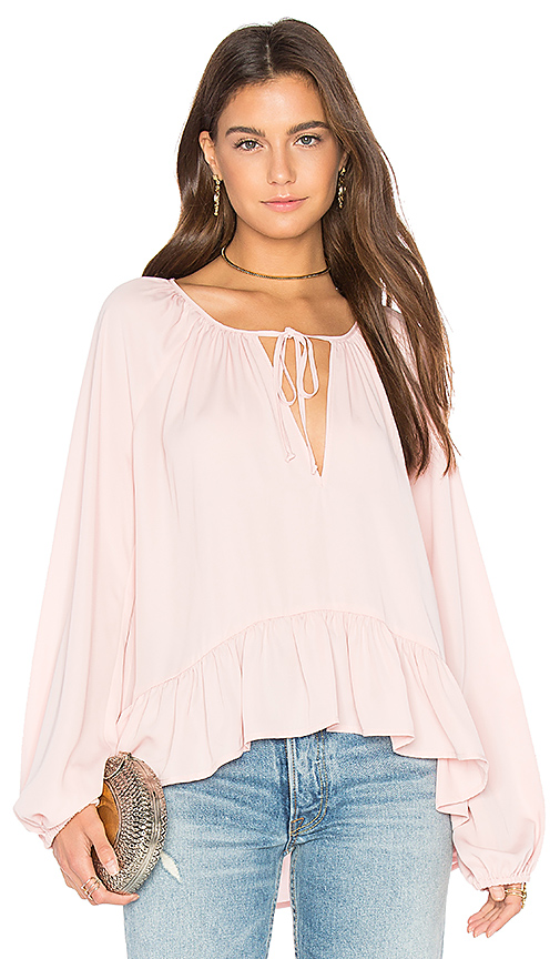 Amanda Uprichard Sage Blouse in Pink. - size L (also in M,S,XS)