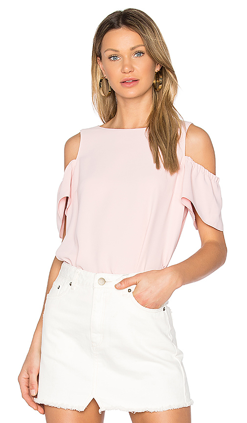 Amanda Uprichard Dryden Top in Pink