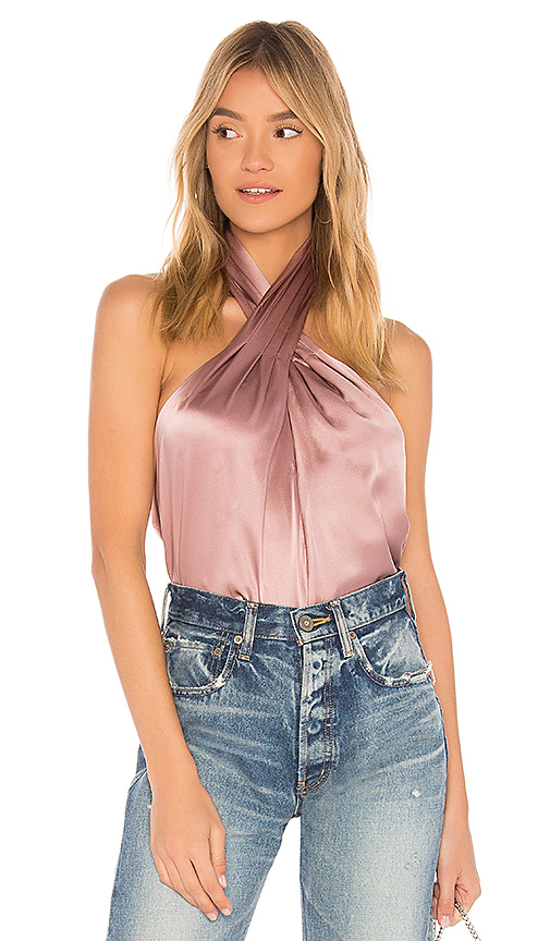 Amanda Uprichard Novara Top in Pink
