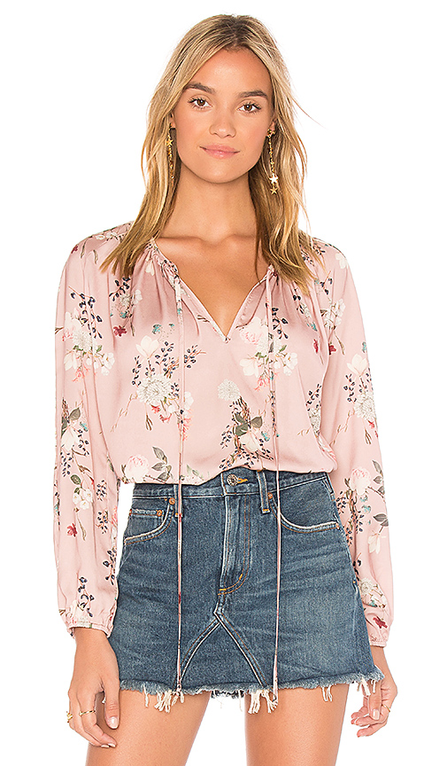 Amanda Uprichard Alessia Blouse in Pink. - size L (also in M,S,XS)