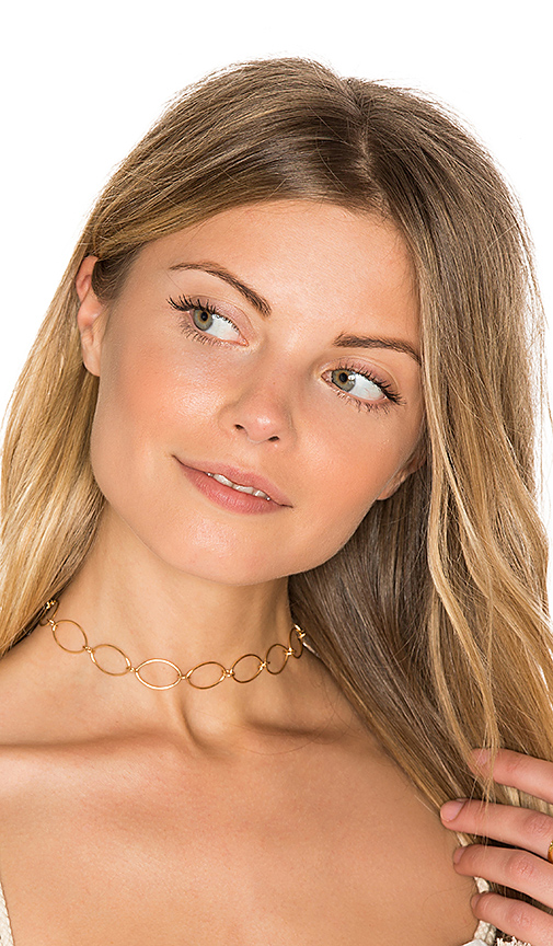Amarilo Bridgette Choker in Metallic Gold.