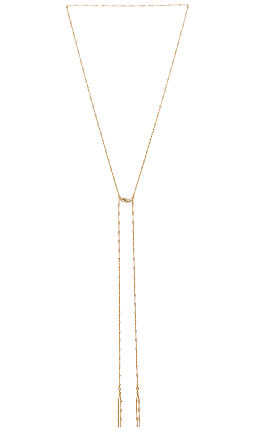 Amarilo Jolene Lariat in Metallic Gold.